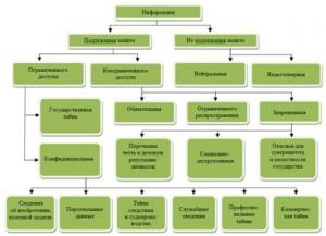 Рис. 1 – Иерархия классов информации